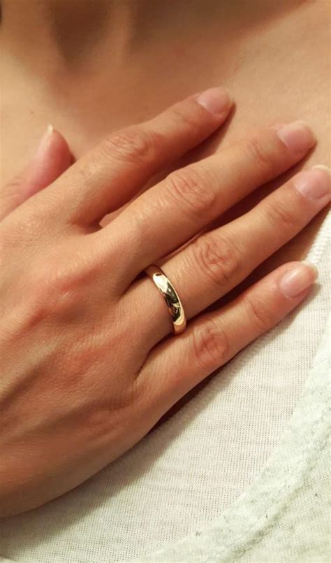 solid gold wedding engagement ring  gold