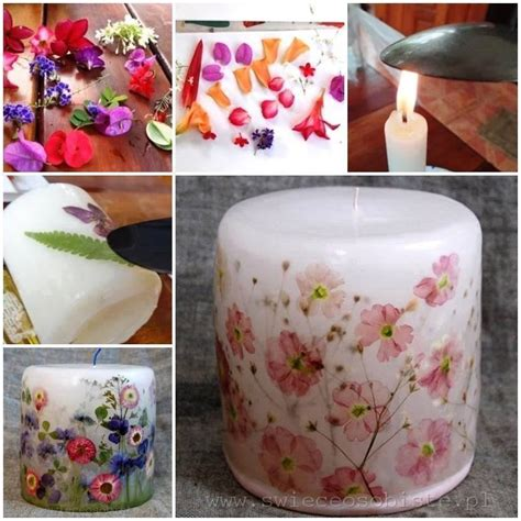 wonderful diy decorate candles  dry flowers