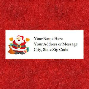 personalized christmas santa address labels