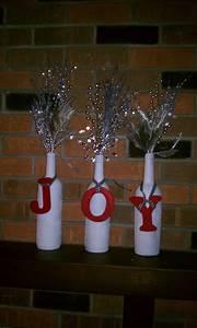 Diy, Wine, Bottle, Christmas, Decor