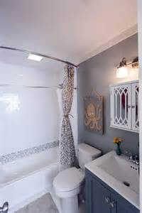 small bathroom ideas hgtv after flip after the makeover the space looks relaxing and spacious with new floors a