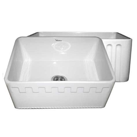 white single bowl kitchen sink whitehaus collection castlehaus reversible farmhaus series 1868