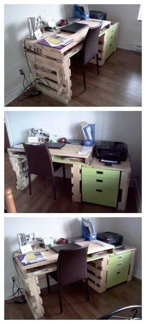 bureau à la maison bureau pour la maison house writing desk pallet ideas