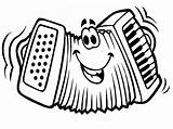 Accordion Coloring Drawing Cartoon Colouring Template Instruments Musical Results Face Sheet Getdrawings Funny Sketch sketch template