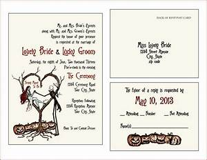 invites rsvp cards vintage fall autumn halloween With halloween style wedding invitations