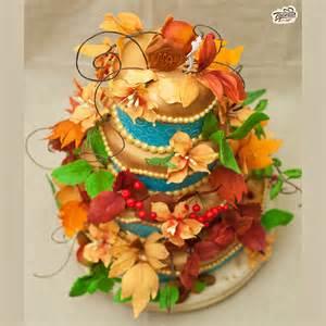 Autumn Fall Wedding Cakes