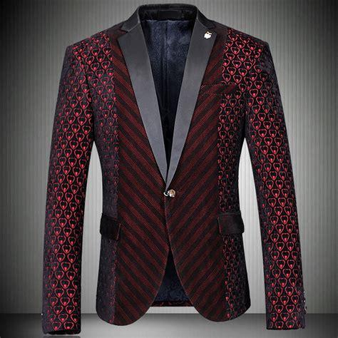 luxury hearts red black velvet mens blazer