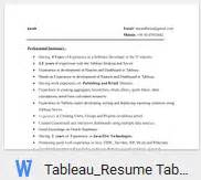 tableau developer resume for 3 years experience tableau resume sles anuvrat info