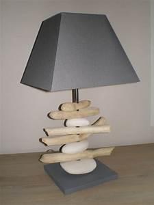 Lampe Chevet Bois Flotté : lampe bois flott et galets la belle au bois flotte ~ Teatrodelosmanantiales.com Idées de Décoration
