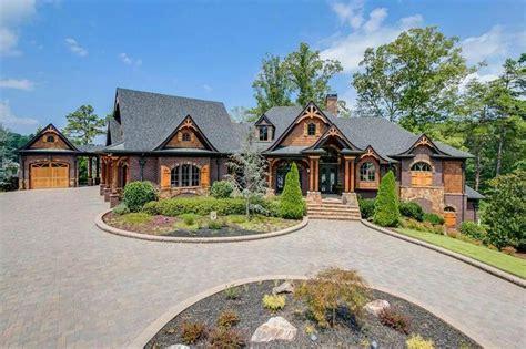 lakefront craftsman style brick mansion  gainesville ga