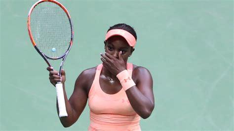 open winner sloane stephens  amazing reaction  receiving check tennis nesncom