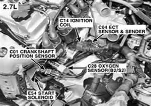 2003 hyundai elantra radiator crank shaft position sensor locataed on 2005 tuscon 2 7 liter