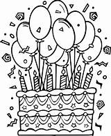 Coloring Cake Birthday Pages Wecoloringpage sketch template