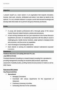 Hiring manager resume for Sample resume for hr and admin executive