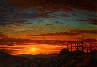 Desert Sunset Landscape Paintings