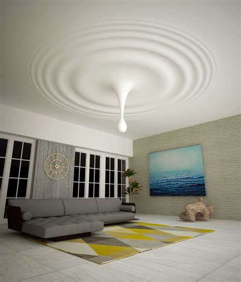 Modern Bedroom Gypsum by Plafond En Staff Par Marcin Orkisz Arbres In 2019