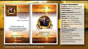 make your own funeral program funeral program endearing template funeralprinter