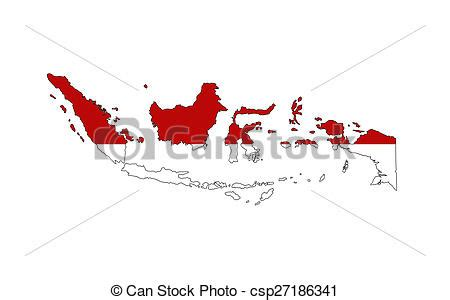 drawing  indonesia flag map indonesia country flag map