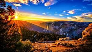 Landscape Sunset Mountain - wallpaper.