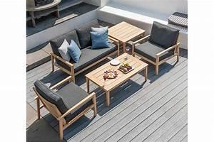 Table basse en bois pour salon de jardin 120 cm, haut de gamme La Galerie du Teck