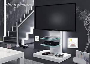 Design Fernsehtisch H 444 Wei Hochglanz TV Schrank TV