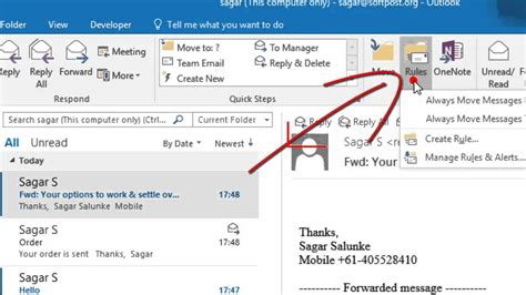 outlook emails
