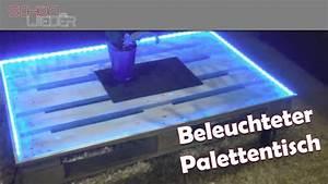 Led Beleuchtung : couchtisch palettentisch mit led beleuchtung youtube ~ Orissabook.com Haus und Dekorationen
