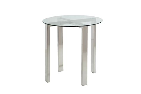 brushed nickel table ls round brushed nickel end tables at gardner white