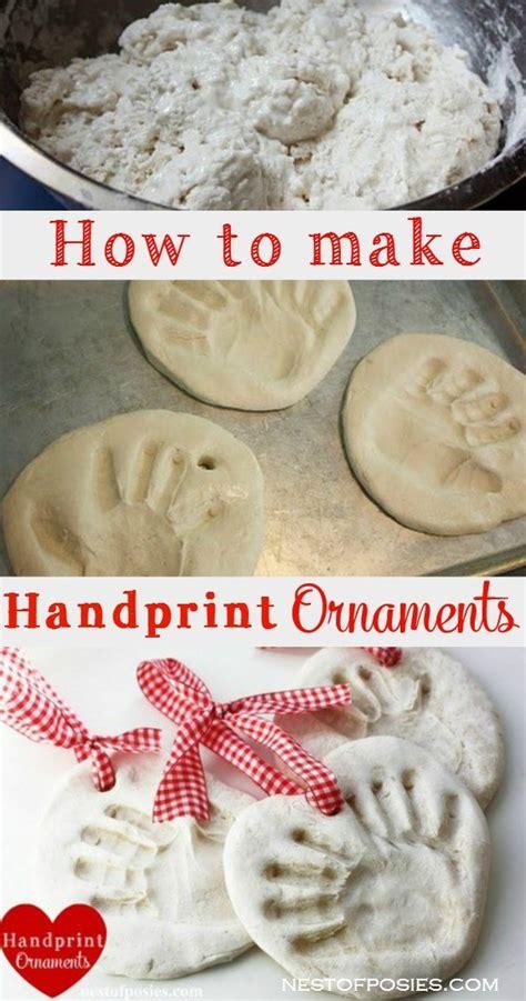 salt dough handprint ornaments