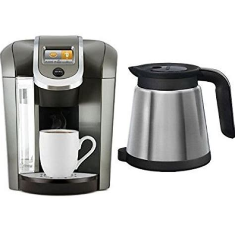 Keurig K575 Coffee Maker Thermal Silver Carafe Bundle 2.0 Platinum (Updated)   Coffee Makers
