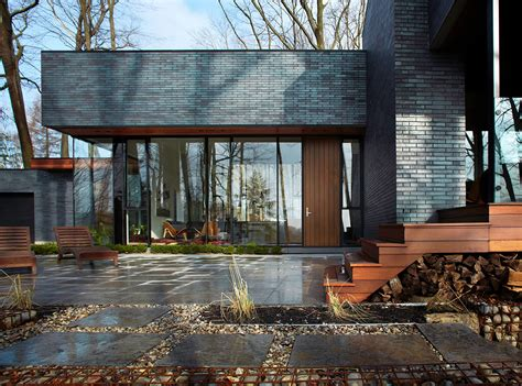 residence architecture fallsview brick dark architect area ontario wood archdaily project forest facade residential rush dundas conservation contemporist glass sandy
