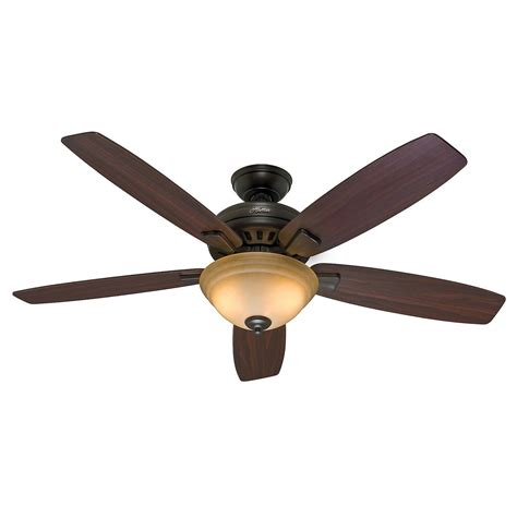 54 Quot Hunter Premier Bronze Ceiling Fan Toffee Glass Light