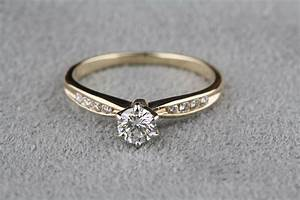 pre owned 40 carat total weight diamond engagement ring With 14 carat gold wedding rings