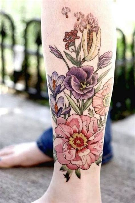 flower tattoos tender  feminine  tattoo ideas