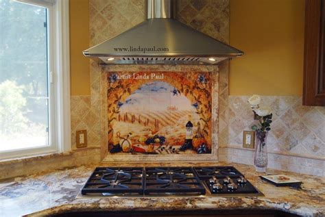 kitchen murals backsplash tile murals tuscany backsplash tiles