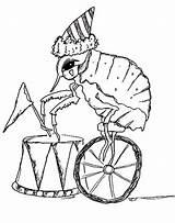 Flea Coloring Circus sketch template