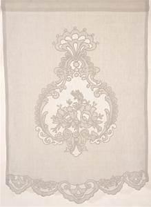 Store En Lin : brise bise store lin rideaux rideau brod s voilages ~ Edinachiropracticcenter.com Idées de Décoration