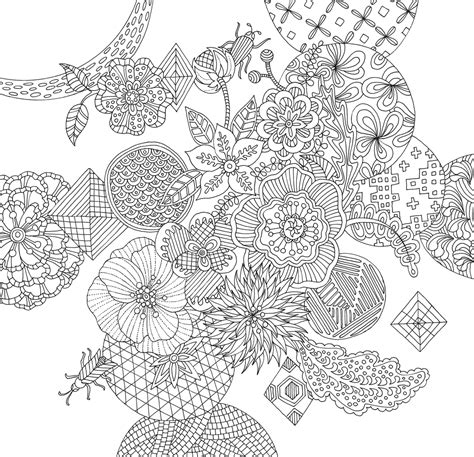 zen garden artists coloring book papermese