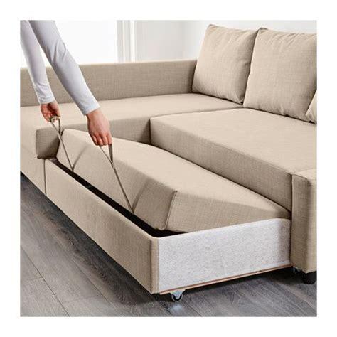 corner sectional sleeper friheten sofa bed with chaise skiftebo beige ikea