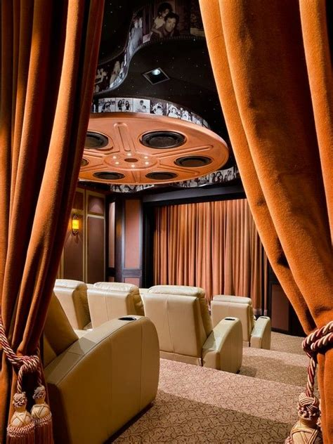 make your home theater more real lushes curtains