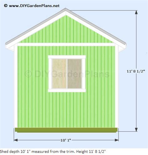 12'x10' Gable Shed