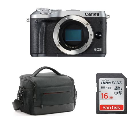 Canon Eos M6 Mirrorless Camera & Accessories Bundle Deals