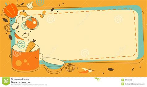 table cuisine retro food kitchen background in doodle retro style stock vector