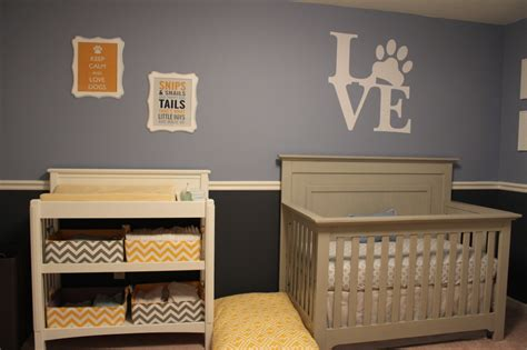 sophisticated mixed pattern dog nursery project nursery
