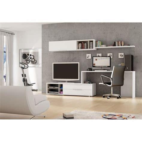 meuble bureaux meuble mural tv bureau office couleur blanc m achat