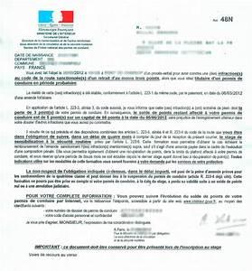 Perte De Point Permis De Conduire : modele lettre 48n document online ~ Maxctalentgroup.com Avis de Voitures