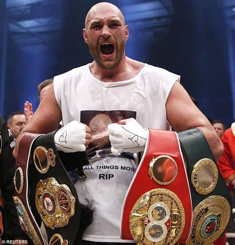 Tyson Fury set to relinquish WBA and WBO world heavyweight ...
