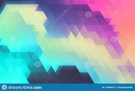 Purple And Blue Color Triangle Blur Gradient Background
