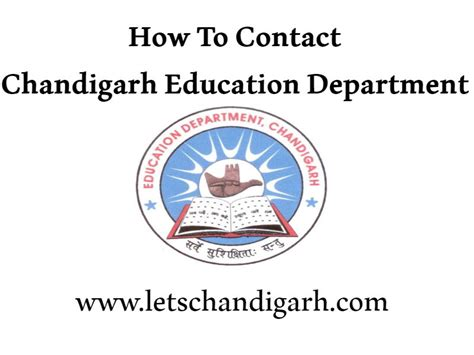 department of education phone number chandigarh education department address phone number