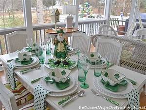 St. Patrick's Day Table Setting and Decorations